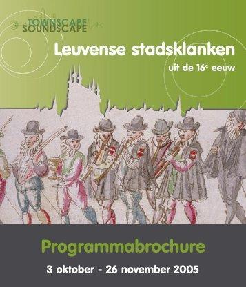 Programmabrochure - Erfgoedcel Leuven