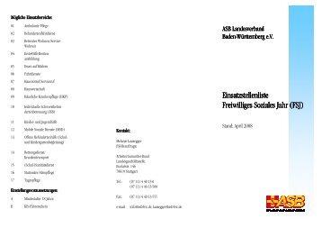 Faltblatt LV\374 - ASB Freiburg-Hochrhein