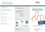 Flyer_Kinderbetreuung Chefsache.indd - Erfolgsfaktor Familie
