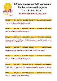 Was ist der Eucharistische Kongress? - erftmuendung.de