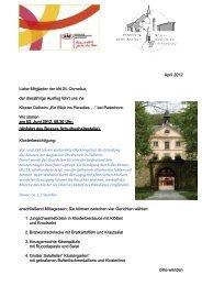 April 2012 Liebe Mitglieder der kfd St. Cornelius ... - erftmuendung.de