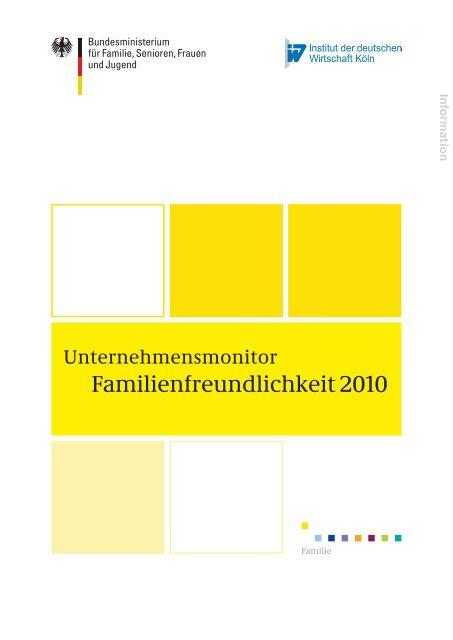 Unternehmensmonitor Familienfreundlichkeit 2010 (PDF)