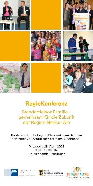 RegioKonferenz Standortfaktor Familie - Erfolgsfaktor Familie