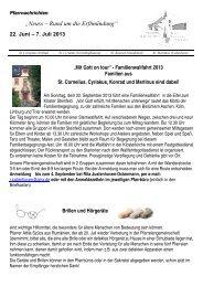 Pfarrnachrichten 22. Juni - 07. Juli - erftmuendung.de