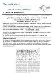 20. Oktober – 4. November 2012 - erftmuendung.de