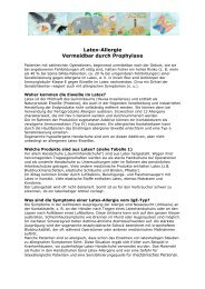 Latex-Allergie Vermeidbar durch Prophylaxe - Asbh