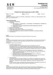 Protokoll Vollversammlung 06.11.2006 - Stadt Erftstadt
