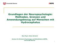 Grundlagen der Neuropsychologie - Die Asbh-Stiftung ist