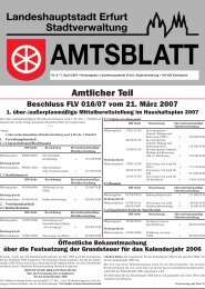 Amtsblatt Nr. 6 vom 7. April 2007 - Erfurt