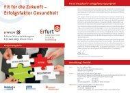 Fit für die Zukunft – Erfolgsfaktor Gesundheit - Erfurt