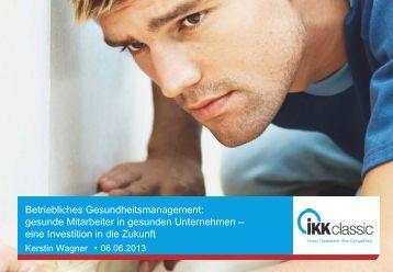 erwicon 2013: Betriebliches Gesundheitsmanagement ... - Erfurt