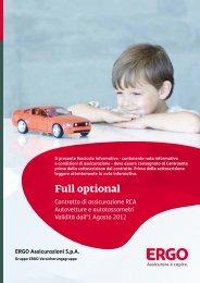Fascicolo informativo RCA autovetture e autotassametri - Ergo Italia