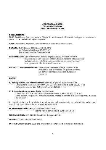 Leggi il regolamento - Ergo Italia