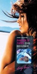 FAKTEN & TIPPS ZUM BRÄUNEN - Ergoline GmbH