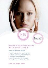 kosmetische bindegewebsmassage für gesicht ... - Ergoline GmbH