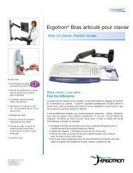 Ergotron® Bras articulé pour clavier