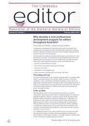 The Canberra editor February-March 2013
