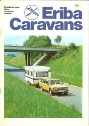 Eriba caravan brochure 1981