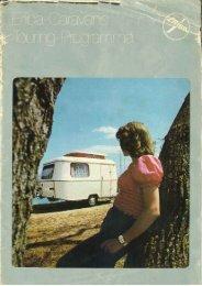 Eriba caravan touring brochure ca. 1972 - ERIBA-HYMER Nederland