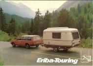 Eriba caravan touring brochure 1983