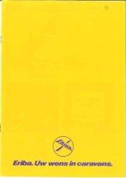 Eriba caravan brochure 1980