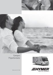 Campers Prijsinformatie - ERIBA-HYMER Nederland