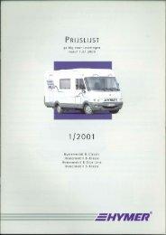 2001 Hymer camperprogramma B-Classis,-Klasse,-Starline, S ...