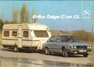 Eriba caravan Taiga brochure 1982