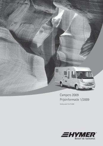 ymer camper prijslijst (incl. Liner) - ERIBA-HYMER Nederland