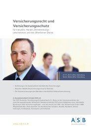 Versicherungsrecht und Versicherungsschutz - ASB Bildungsgruppe ...