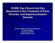 Eye Closure and Eye Movement in the Treatment of Panic Disorder ...
