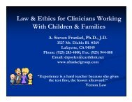 Law & Ethics for Clinicians Working With Children & Families
