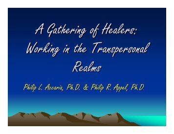 A Gathering of Healers - Erickson Congress