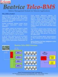 Battery Management System for Telecom Applications ... - Ericom