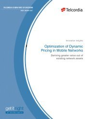 Optimization of Dynamic Pricing in Mobile Networks - Ericsson