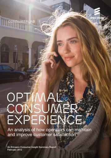 Optimal Consumer Experience - Ericsson