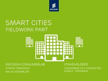 ConsumerLab Smart Cities - Ericsson