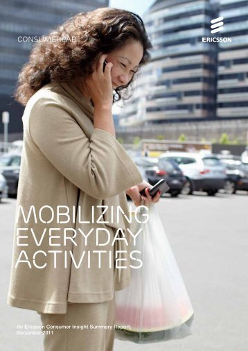 Ericsson ConsumerLab: Mobilizing everyday activities