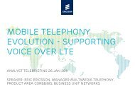 Mobile telephony evolution - supporting voice over LTE - Ericsson