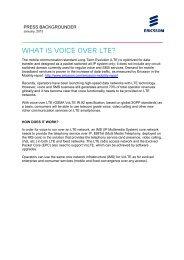 voice over LTE (VoLTE) - Ericsson