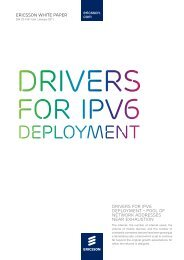 Drivers for IPv6 deployment - pool of network addresses ... - Ericsson