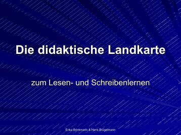 Die didaktische Landkarte zum Lesen- und ... - Erika Brinkmann