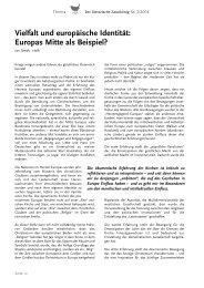 Vielfalt und europäische Identität: Europas Mitte als Beispiel?