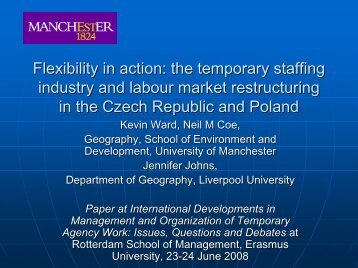 Flexibility in action: the temporary staffing industry and labor ... - ERIM