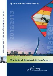 Fly your academic career with us! - ERIM