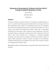Evidence from the Field of Foreign Invested Enterprises in ... - ERIM