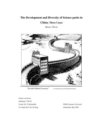 The Development and Diversity of Science parks in China - ERIM