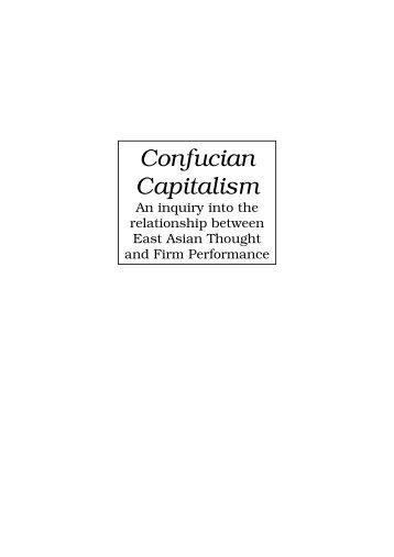 Confucian Capitalism - ERIM