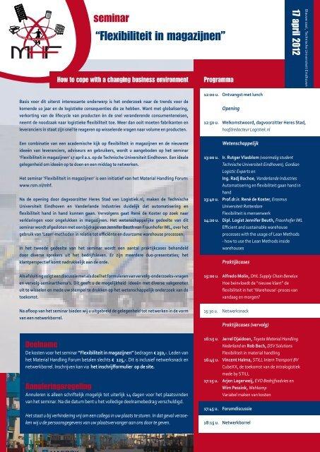 """""""Flexibiliteit in magazijnen"""" - ERIM - Erasmus Universiteit Rotterdam"""