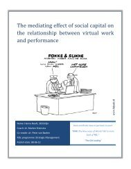 The mediating effect of social capital on the relationship ... - ERIM